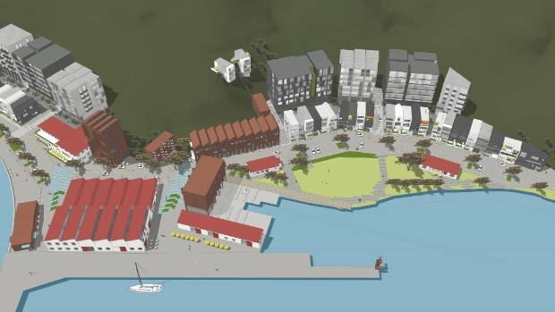 The $500m proposed Shelly Bay development would include hotels, apartments, townhouses, a rest home, a ferry terminal, a ...