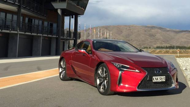 The Sensuous Looking Lexus LC500 Coupe Poses At Highland Park Motorsport  Track At Cromwell.
