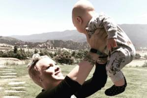 Pink with her baby son, Jameson.
