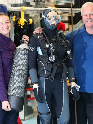 Waikawa Dive Centre instructor Kate Trayling, left, and owner Stuart Scaife hope to use a decommissioned navy boat, ...
