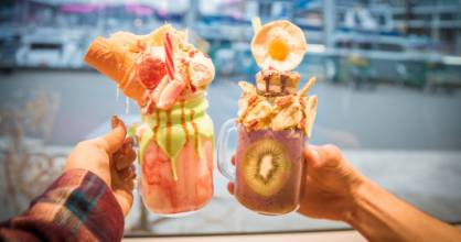 Try Shake's zombie-themed, teeth and all freakshake of the month. If you're scared, there's a more friendly option ...