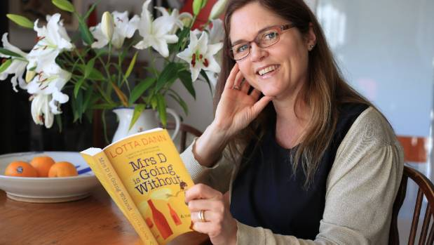Karori author Lotta Dann with her first book Mrs D is Going Without