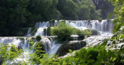 The waterfalls in Krka National Park, Croatia.