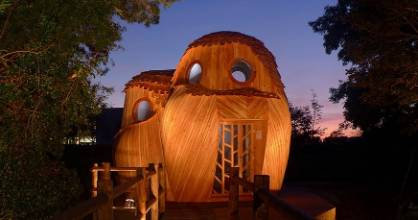 The night owls - this is when the cabin really shines.