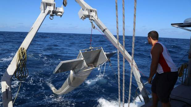 Plastic breaks up in the ocean, and a net is required to estimate how many particles are floating in the plastic patch.