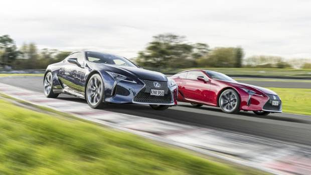 The Lexus LC 500 coupe.