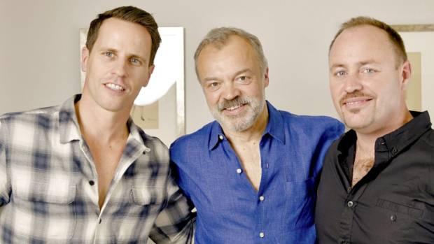 Invivo Wine's Tim Lightbourne, Graham Norton and Rob Cameron celebrate the new vintages.