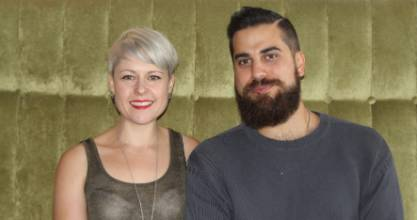 Rebecca Smidt and chef Dariush Lolaiy, the owners of Cazador in Mt Eden.