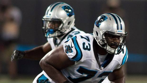 Panthers release OT Michael Oher with failed physical designation