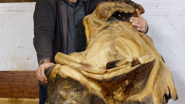 A chair carved from swamp kauri. (File photo)