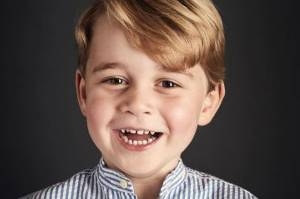 Prince George of Cambridge's official 4th birthday portrait.