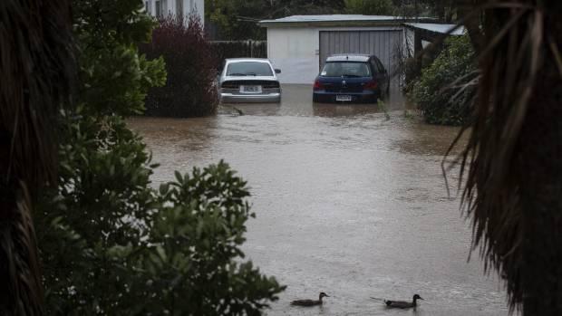 Heathcote River flooding near Sloane Terrace.