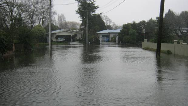 Flooding on Weir Place, Hoon Hay, Christchurch.