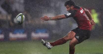 Crusaders first-five eighth Richie Mo'unga missed three penalties against the Highlanders last weekend.