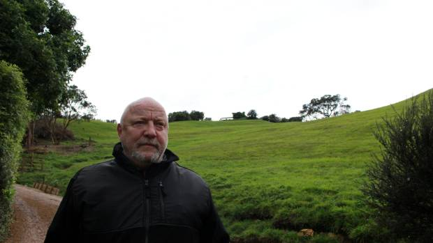 Gary Thomason beside the land at Matiatia where visitor units could be developed.