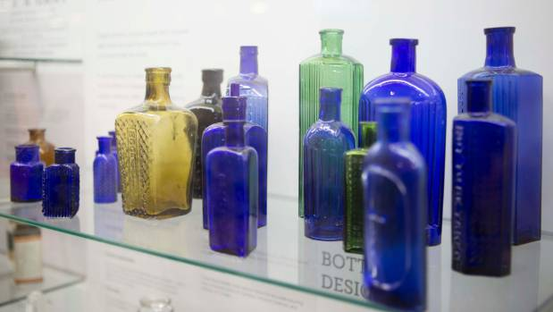 Early glass poison bottles had textured surfaces to warn users handling them in low light.