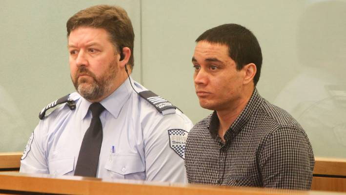 Accused Michael Murray at the murder trial of Connor Morris.