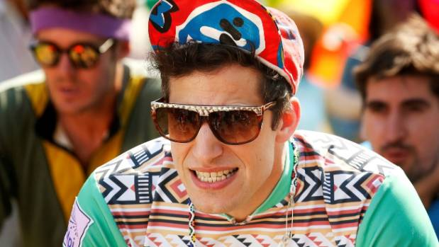 Andy Samberg is Kenyan rider Marty Haas in Tour de Pharmacy.