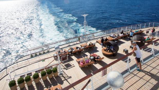 It's called the Oasis deck for a reason - it's an adults-only zone. Quiet music, cold drinks and an endless ocean view.