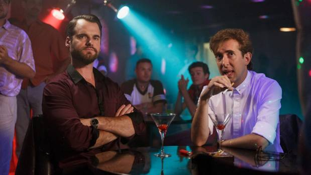 Ted West (David de Latour) and Bilkey (Todd Emerson) in the gay nightclub scene. I'm visible by Emerson's shoulder.