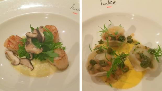 Seared scallops and lobster agnolotti were the beginning of an amazing meal at Luke Mangan's Salt Grill.