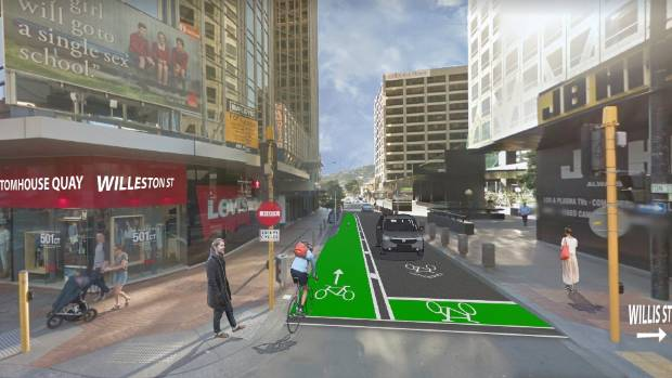Scrapped: plans for a contraflow bike lane in Willeston St have been quietly shelved, without explanation.
