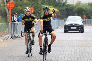 Josh Scott riding in Belgium this month as a lead up to the UCI junior track championships.