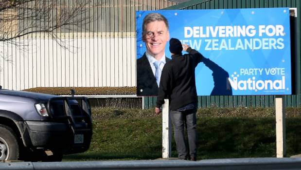 Election campaign signs, such as the one pictured supporting Andrew Falloon, started popping up around the region over ...