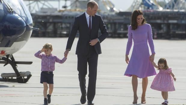 Prince William, Duke of Cambridge, Prince George of Cambridge, Princess Charlotte of Cambridge and Catherine, Duchess of ...
