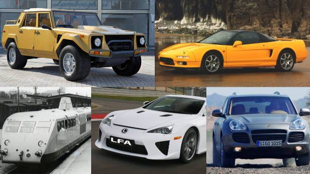 Five surprising vehicles that manufacturers have dropped on us over the years.