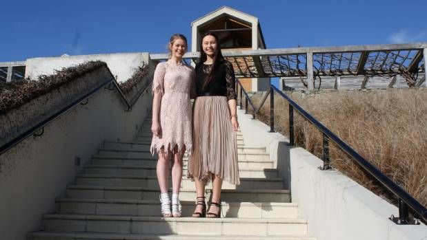 They first met at Marlborough Girls' College and now good friends Katie Foley-Taylor, left, and Jordan Peipi, right, are ...