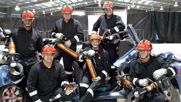 The Whitianga Volunteer Fire Brigade team, from left: Nick Paillandi, Dallas martin, James Stops, Spida Mangin, Julian ...