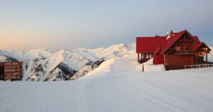 The Eagles Eye suite is located at the very top of the resort – accessed only by Gondola.
