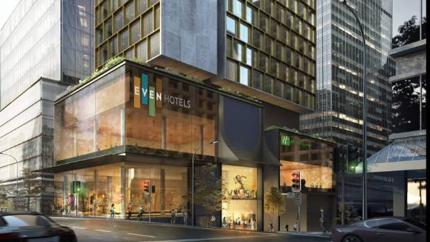 An Artist S Rendition Of A New Even Hotel Planned For Central Auckland