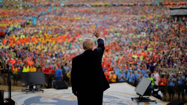Trump S Speech To Boy Scouts Fake Media Crowd Sizes And Dissing Rivals Stuff Co Nz