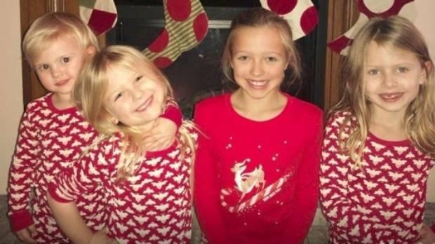 Cortes' four nieces, Elli (11), Adilynn (7), Emma (5), and Anniston (2).