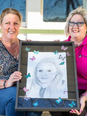 Jayne Glover, left, and Jac Lockington want to spread Lara Glover's message of peace and happiness after the 16-year-old ...