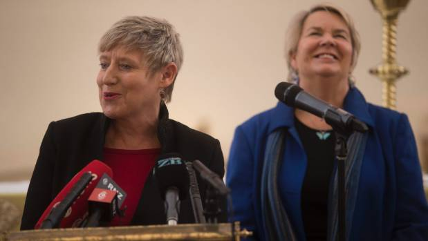 Working together: Wagner as new Regeneration Minister with Christchurch Mayor Lianne Dalziel.