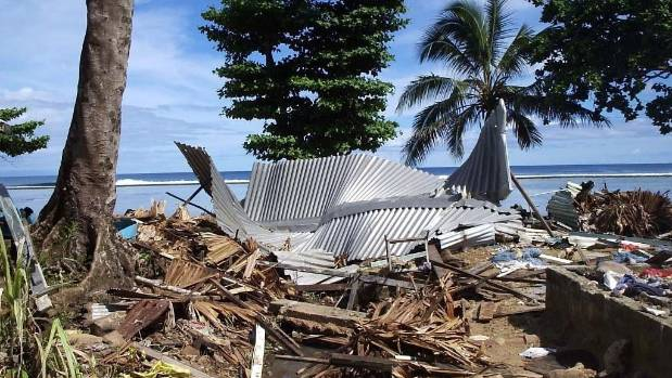 Destruction after the 2007 earthquake.