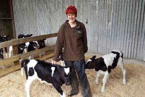 Sophie Brown is keen to test her calf-raising abilities.