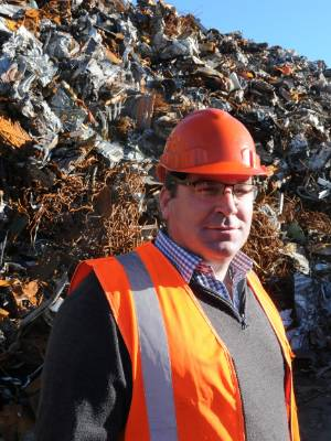 Macaulay Metals operation manager Glen Jacobs is overseeing 20,000 tonnes of scrap metal being shifted from the yard.