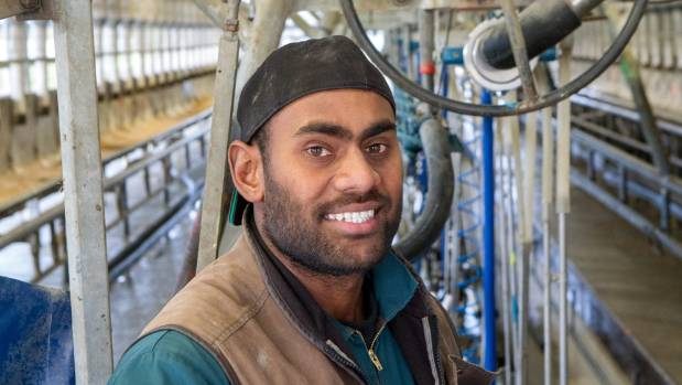 """Abaramo Mono """"AB"""" Borisi has worked his way up to herd manager on a dairy farm milking about 1000 cows."""