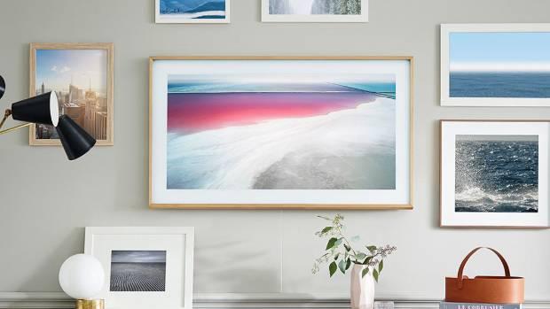 samsung 39 s picture frame tv arrives in new zealand stuff. Black Bedroom Furniture Sets. Home Design Ideas