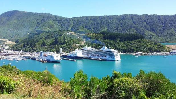 Picton was the third most popular destination with cruise ship passengers.