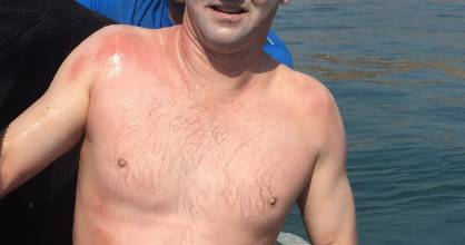 New Plymouth man Paul Feltoe swam more than 32 kilometres across the Catalina Channel in July.