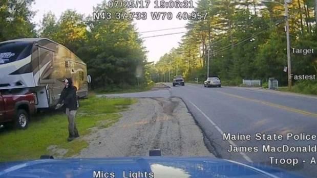 One-armed, machete-wielding clown arrested