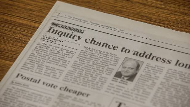 Newspaper headlines from 1995, ahead of the last major review into mental health.