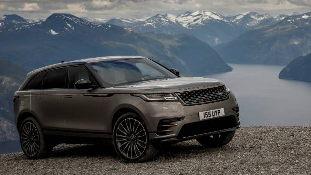 On top of ol' Roaldshornet. It might be an on-roader, but clever traction systems in Velar got us all the way up here.