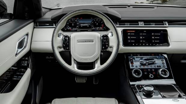 Not a physical dial in sight. Cabin based around three virtual screens, including Touch Pro Duo in centre console.