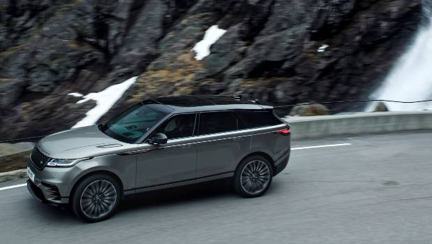 On the road, on a corner. It's where the Velar is really at home.